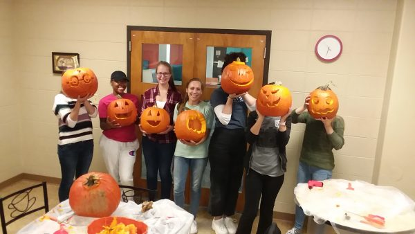 Pumpkin carving at the Liz McCarthy Roundtable