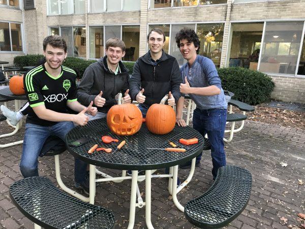 Pumpkin carving at the Susan Brantly Roundtable