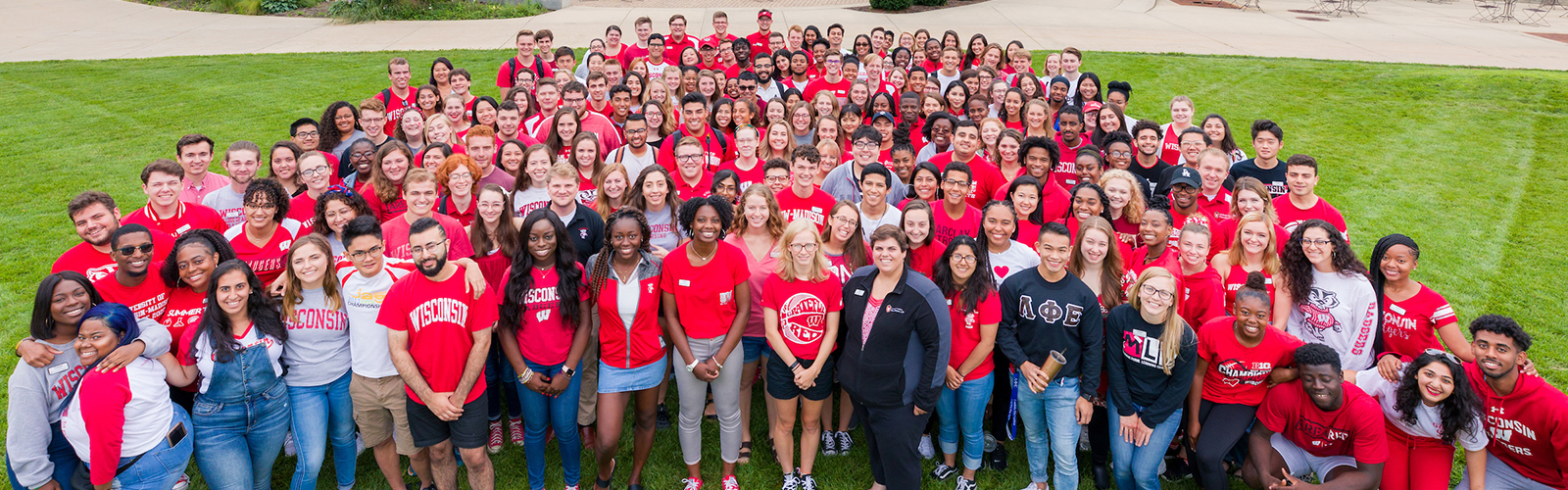 Residence Life staff outside of Gordon Dining & Event Center
