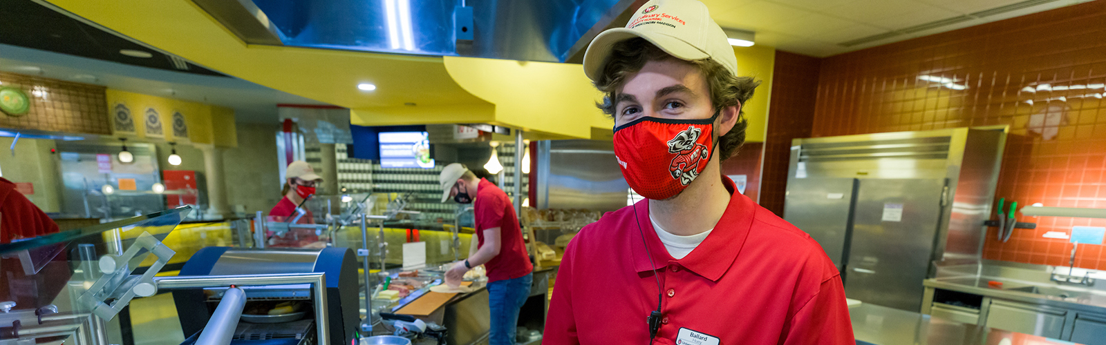 Dining student employee working in Four Lakes Market