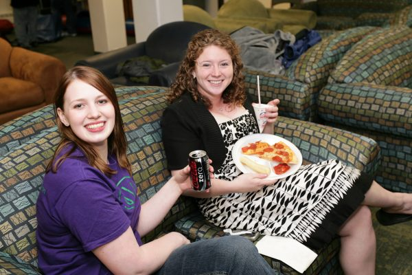 BLC residents enjoying snacks at the end of the school year