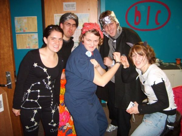 BLC residents showing off their Halloween costumes
