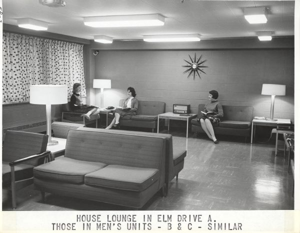 Bradley residents study in a lounge