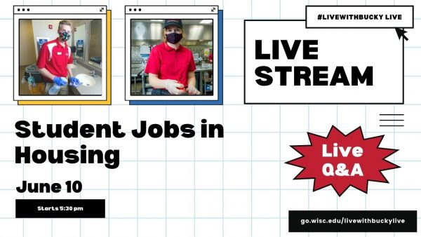 #LiveWithBucky Live - 6/10 Student Jobs in Housing