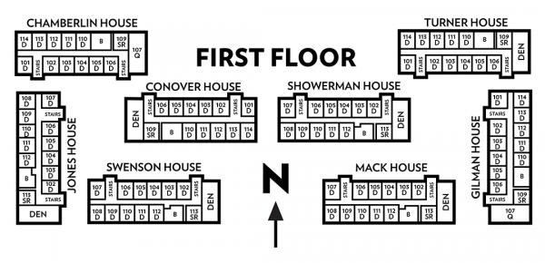 Kronshage floor plan of first floor
