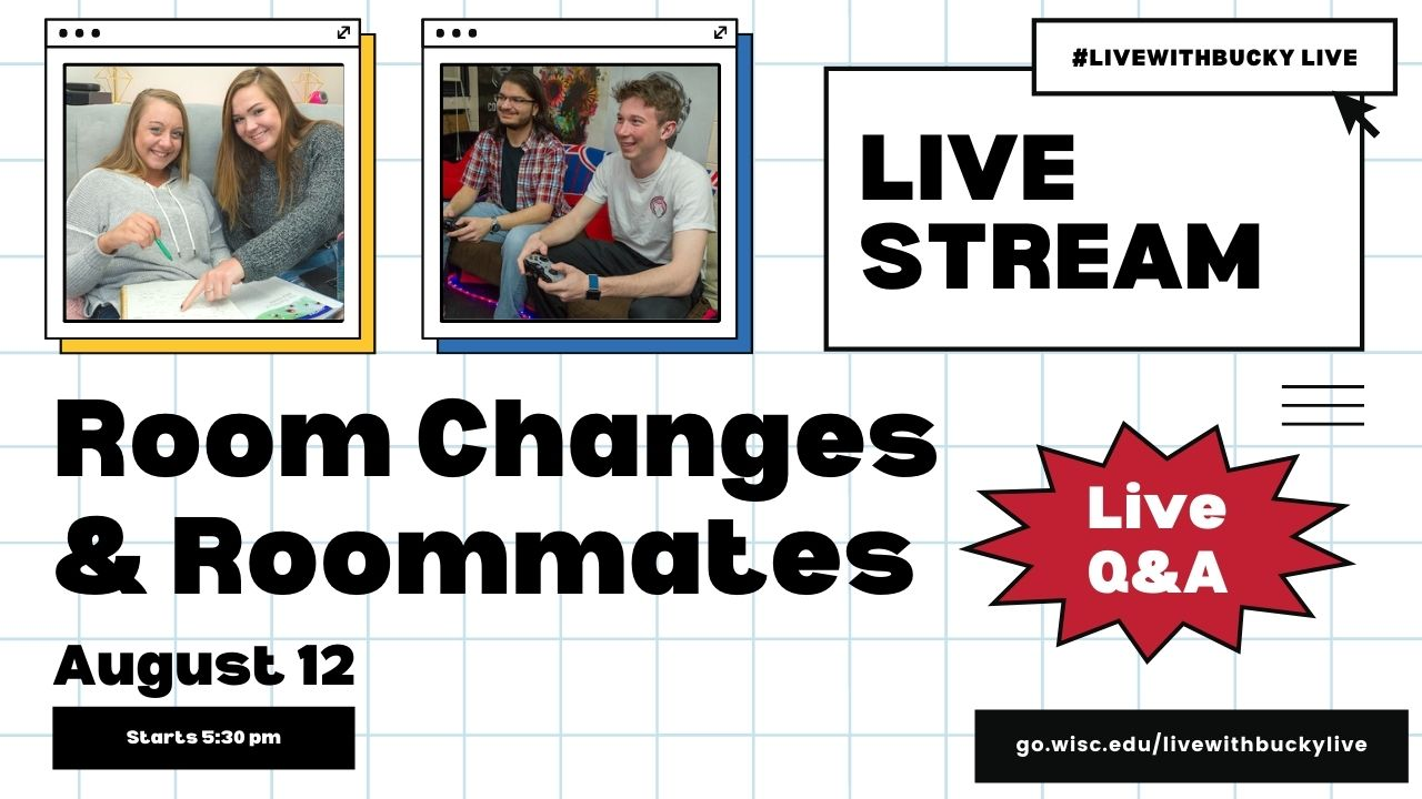 #LivewithBucky Live - 812 Room Changes & Roommates