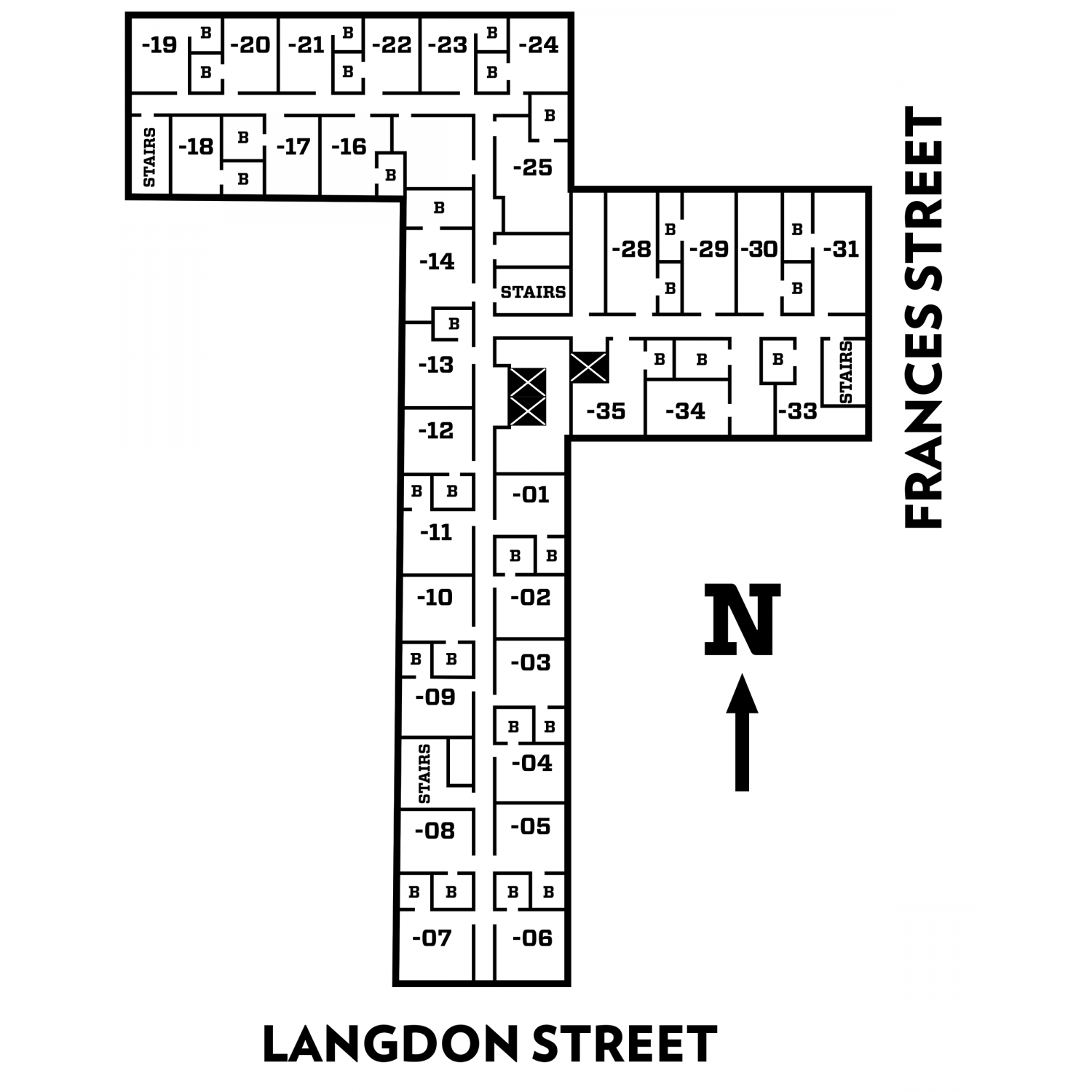 Lowell floor plans of fifth and sixth floor